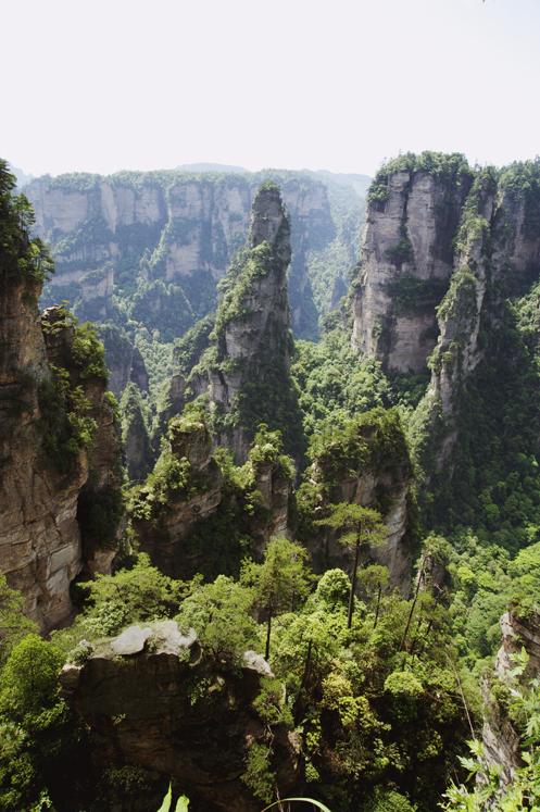 Avatar Mountains in ZhangJiaJie China
