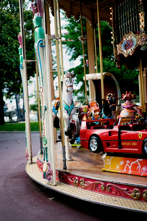 carousel in Cannes, France